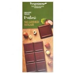 BIO Σοκολάτα πραλίνα φουντούκι, χωρίς ζάχαρη.